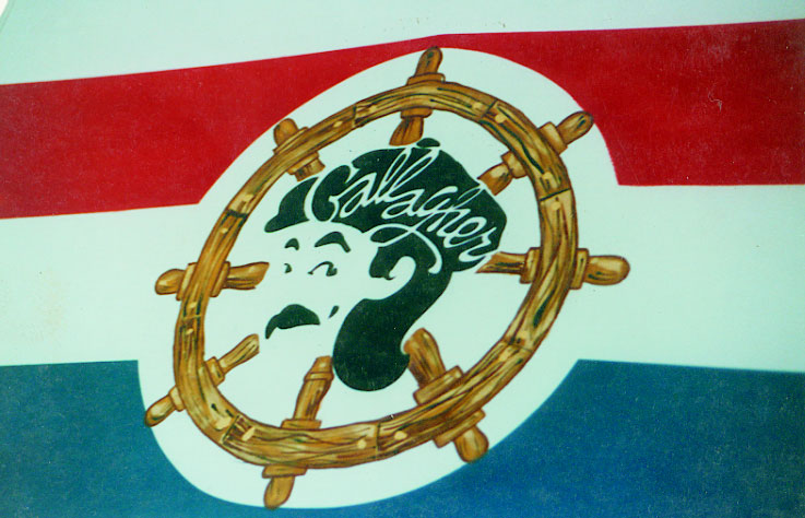 Close up of Gallagher's Logo