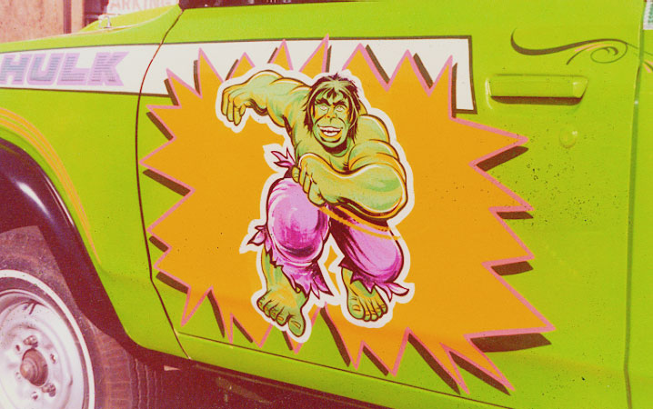 close up on HULK Truck for George Barris